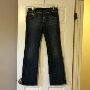 Miss Sixty Dark Bootcut Jeans Excellent 28